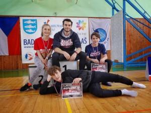 Lucka, Štěpán a Lukáš s coachem Jirkou. (foto: Tomáš Prek)