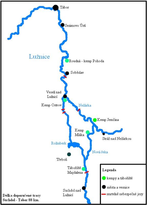 Vltava Reka Mapa Jpg